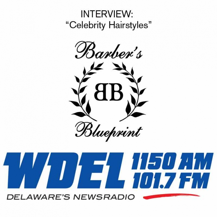 Arthur, owner of Barber's Blueprint is interviewed about celebrity hair on WDEL Radio
