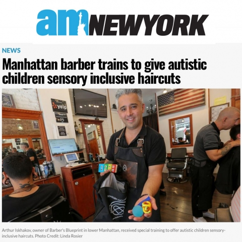 am New York: Manhattan barber trains to give autistic children sensory inclusive haircuts